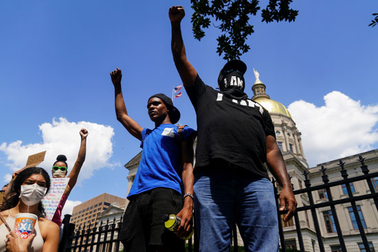 جانب من الاحتجاجات فى أتلانتا