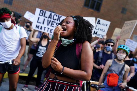 مظاهرة فى أتلانتا