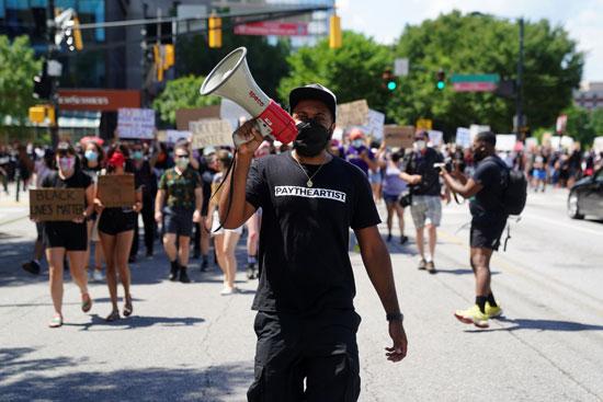 تجدد المظاهرات فى أتلانتا بسبب عنف الشرطة