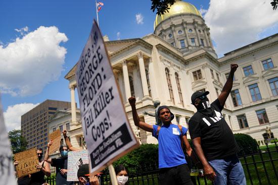 مظاهرات جديدة فى أتلانتا بسبب مقتل رجل أسود