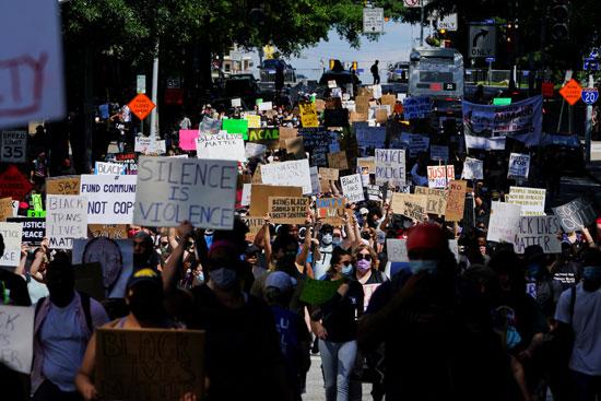 مسيرة حاشدة فى أتلانتا بسبب عنف الشرطة الأمريكية