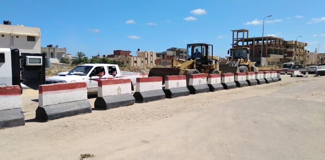 حملة إزالة التعديات على أراضى املاك الدولة بشمال سيناء (1)