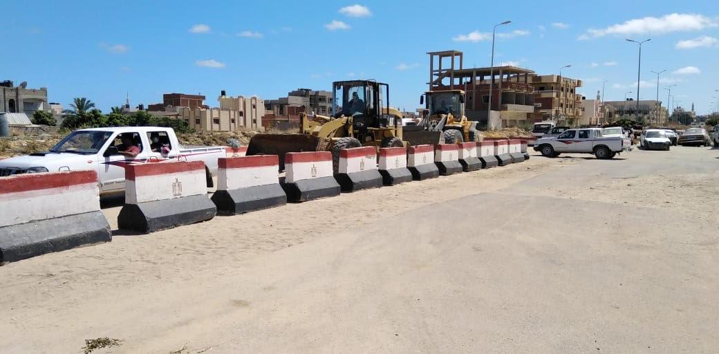 حملة إزالة التعديات على أراضى املاك الدولة بشمال سيناء (3)