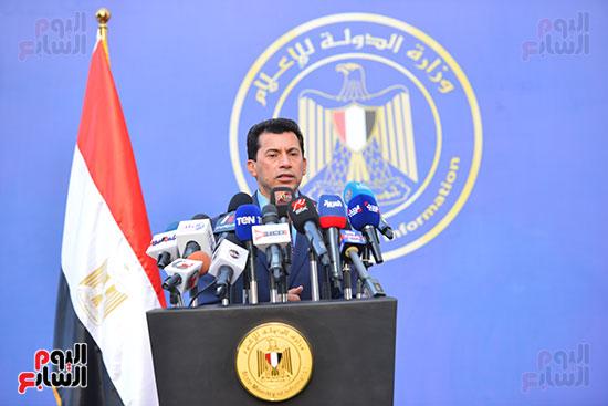أشرف صبحى  خلال المؤتمر الصحفى (6)