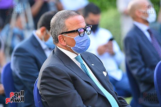أشرف صبحى  خلال المؤتمر الصحفى (12)