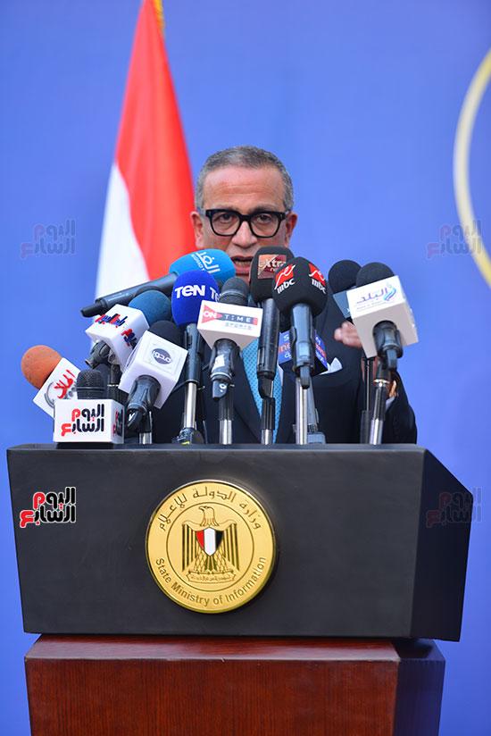أشرف صبحى  خلال المؤتمر الصحفى (19)