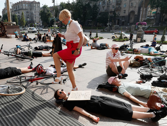 المتظاهرو