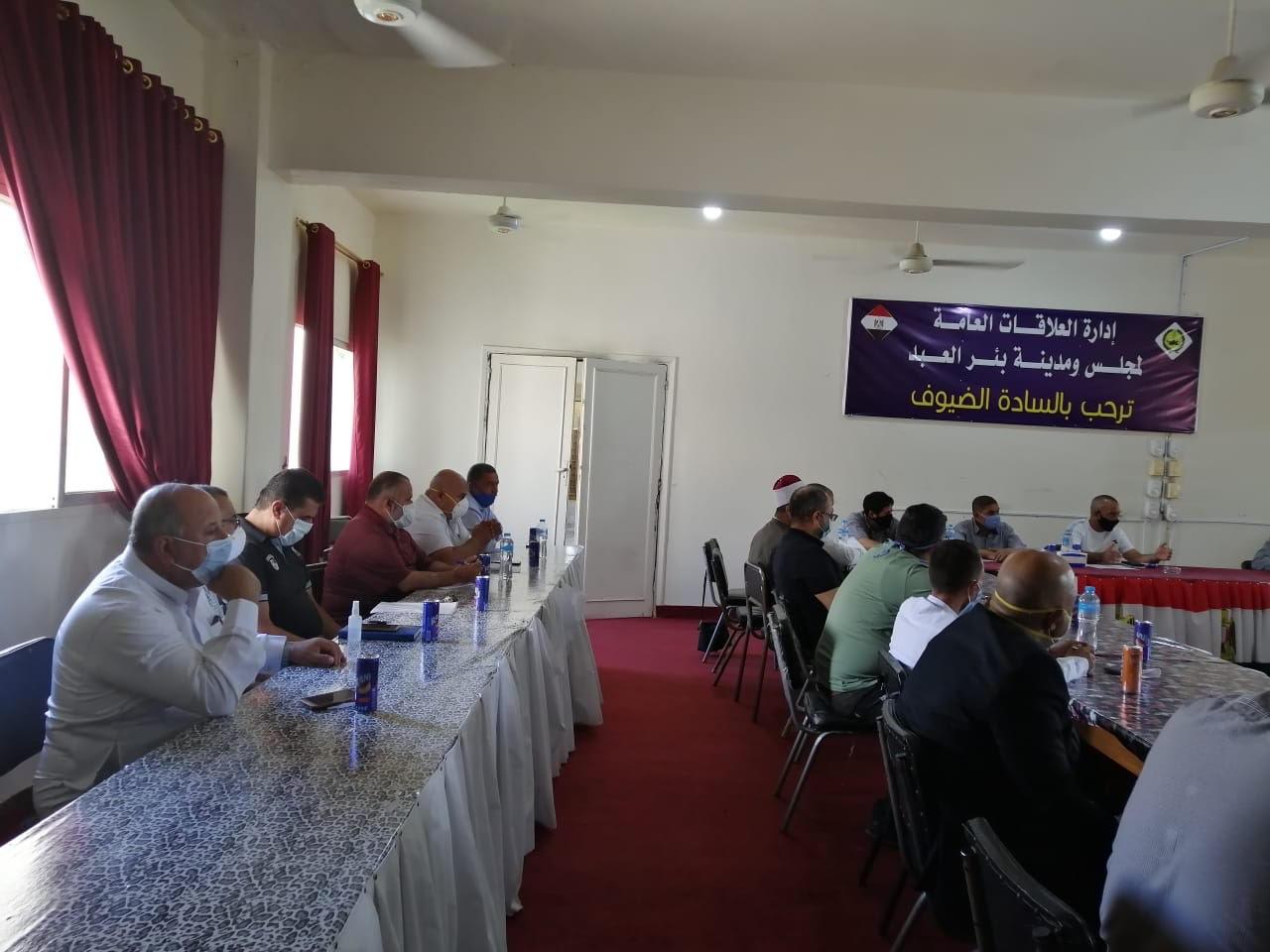 اجتماع رؤساء قرى شمال سيناء (1)