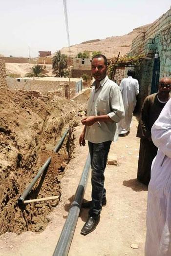 تجديد شبكات مياه الشرب بأسوان (1)