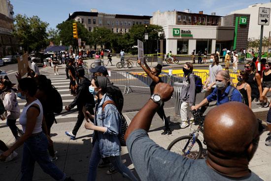 احتجاجات فى بروكلين بنيويورك
