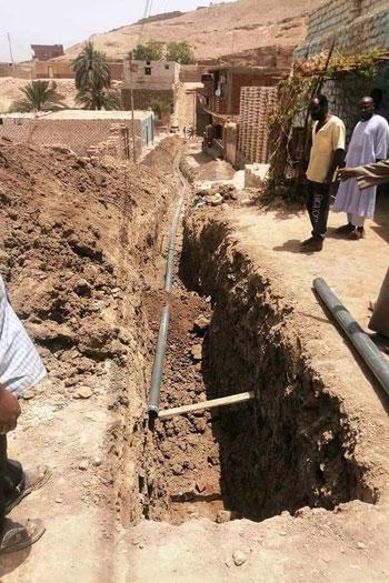 تجديد شبكات مياه الشرب بأسوان (2)