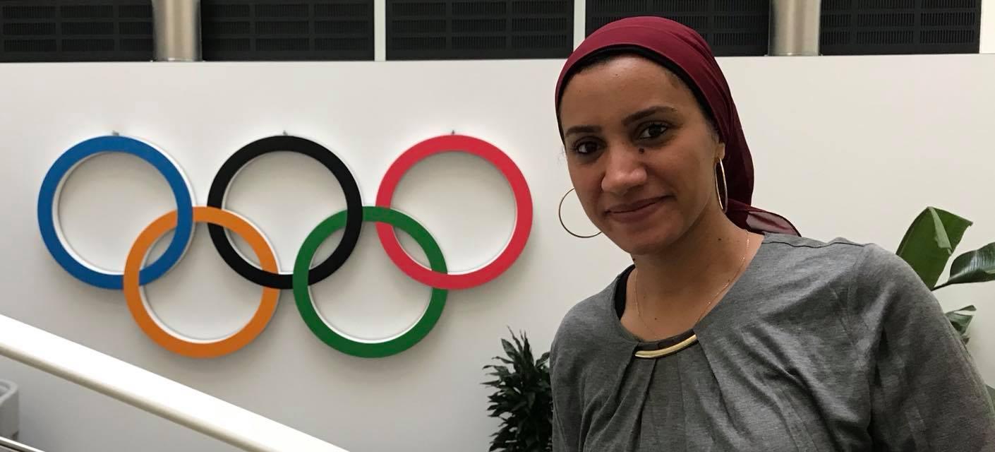 مع الحلقات الاولمبية