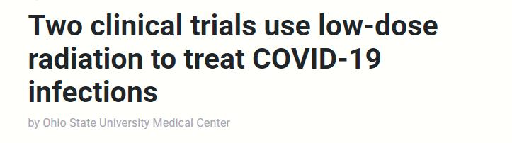 العلاج الإشعاعى لمرضى كورونا