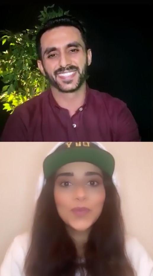 النجمة بلقيس والزميل محمد أسعد (3)