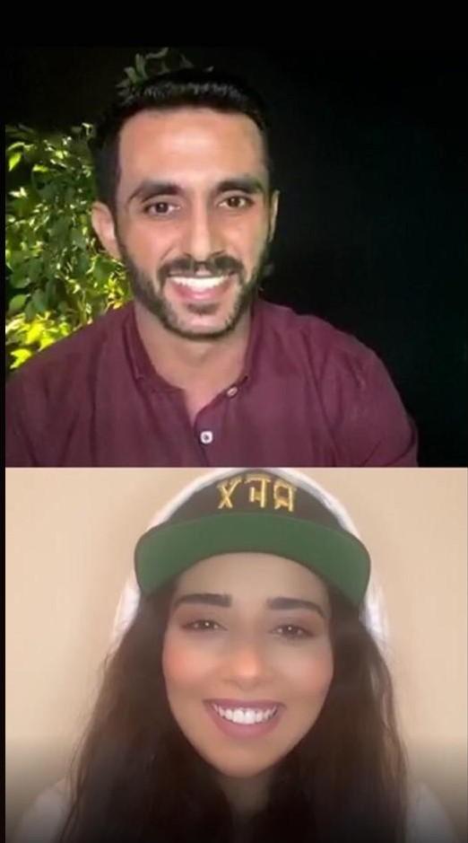 النجمة بلقيس والزميل محمد أسعد (2)