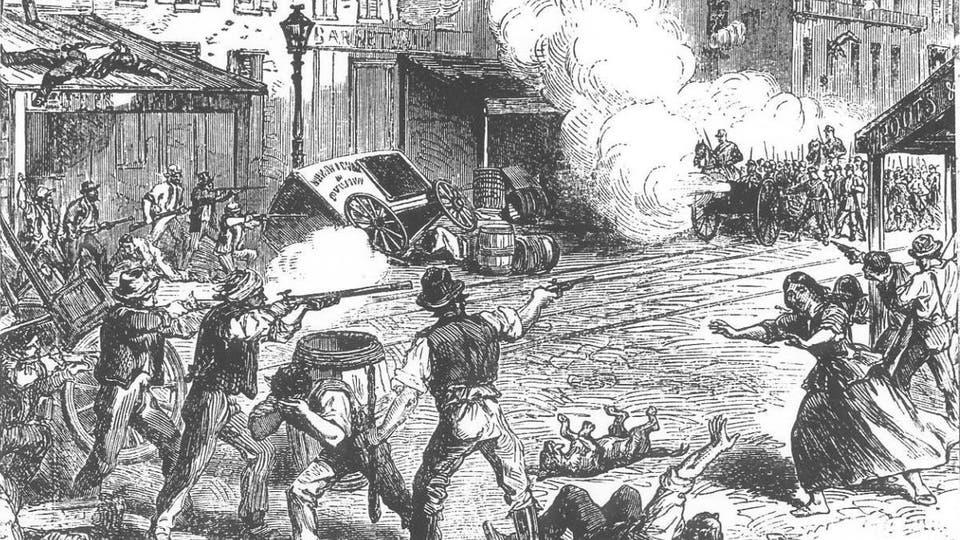 رسم للحرب الأهلية فى أمريكا