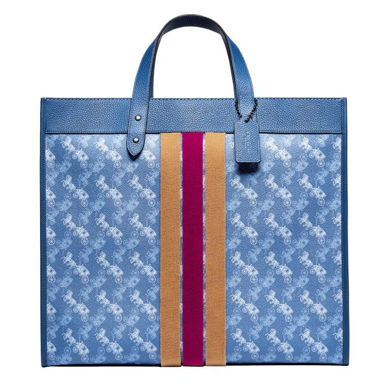 حقيبة زرقاء اللون