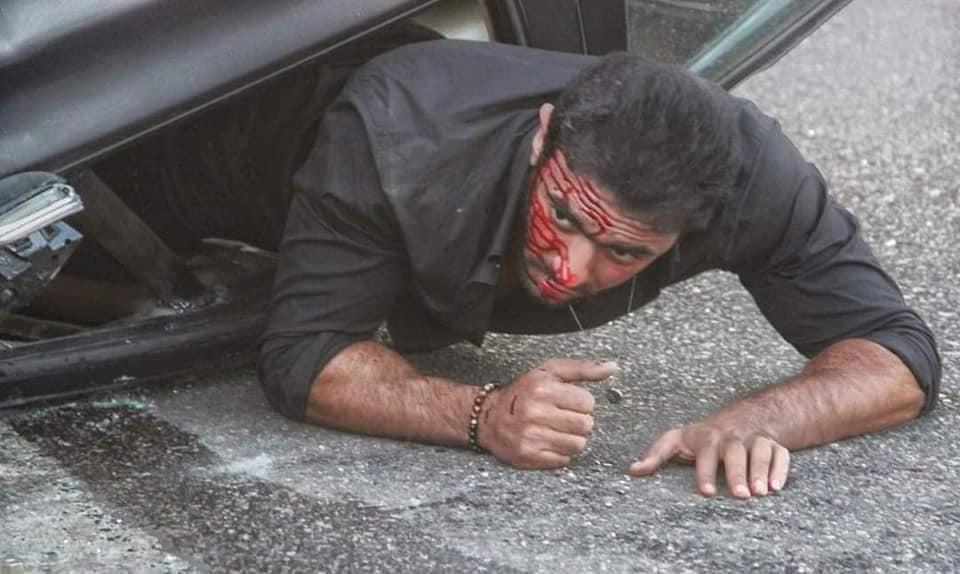 أحمد العوضى يشوق جمهوره بصور من كواليس مسلسل شديد الخطورة  (1)