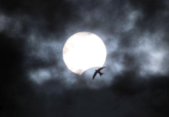كسوف جزئى للشمس من يفباتوريا شبه جزيرة القرم
