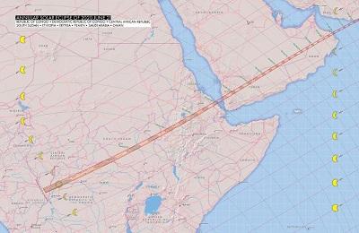 بدأ مسار الكسوف اليوم في أفريقيا وعبر إلى شبه الجزيرة العربية.