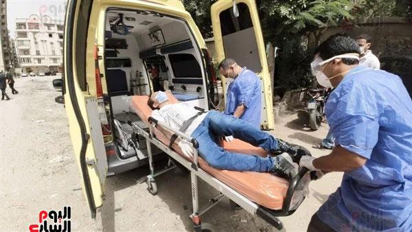 نقل طالب لمستشفى العزل للاشتباه فى إصابته بكورونا (4)