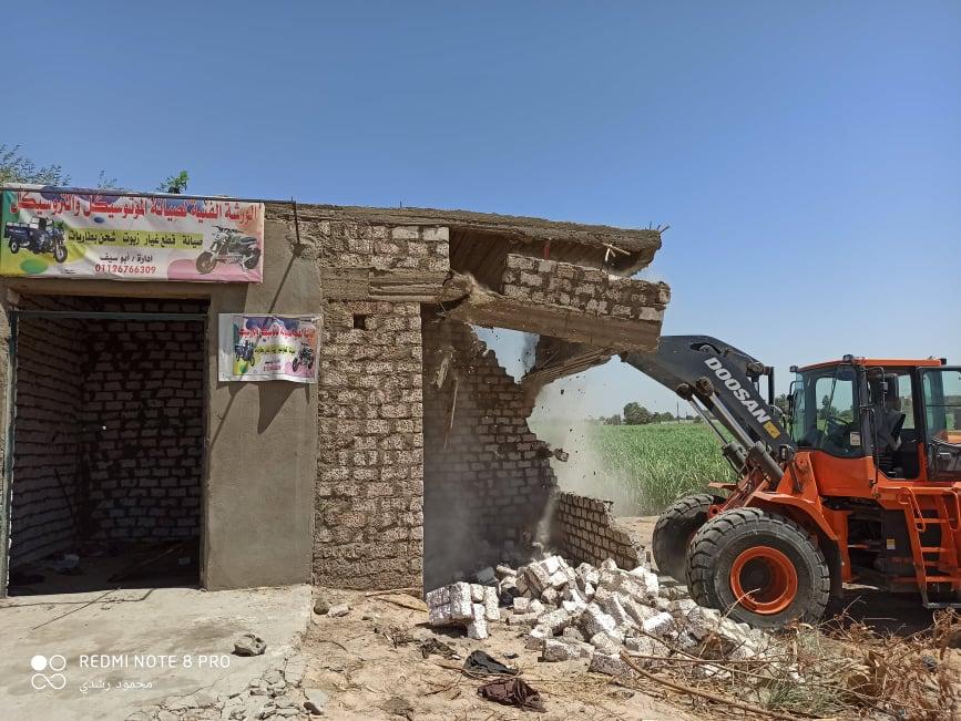إزالة تعديات على الاراضي الزراعيةبكوم امبو   (4)