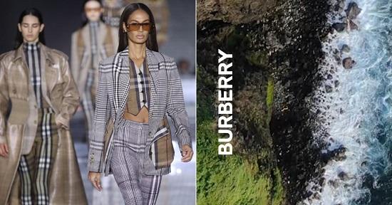 عرض أزياء Burberry