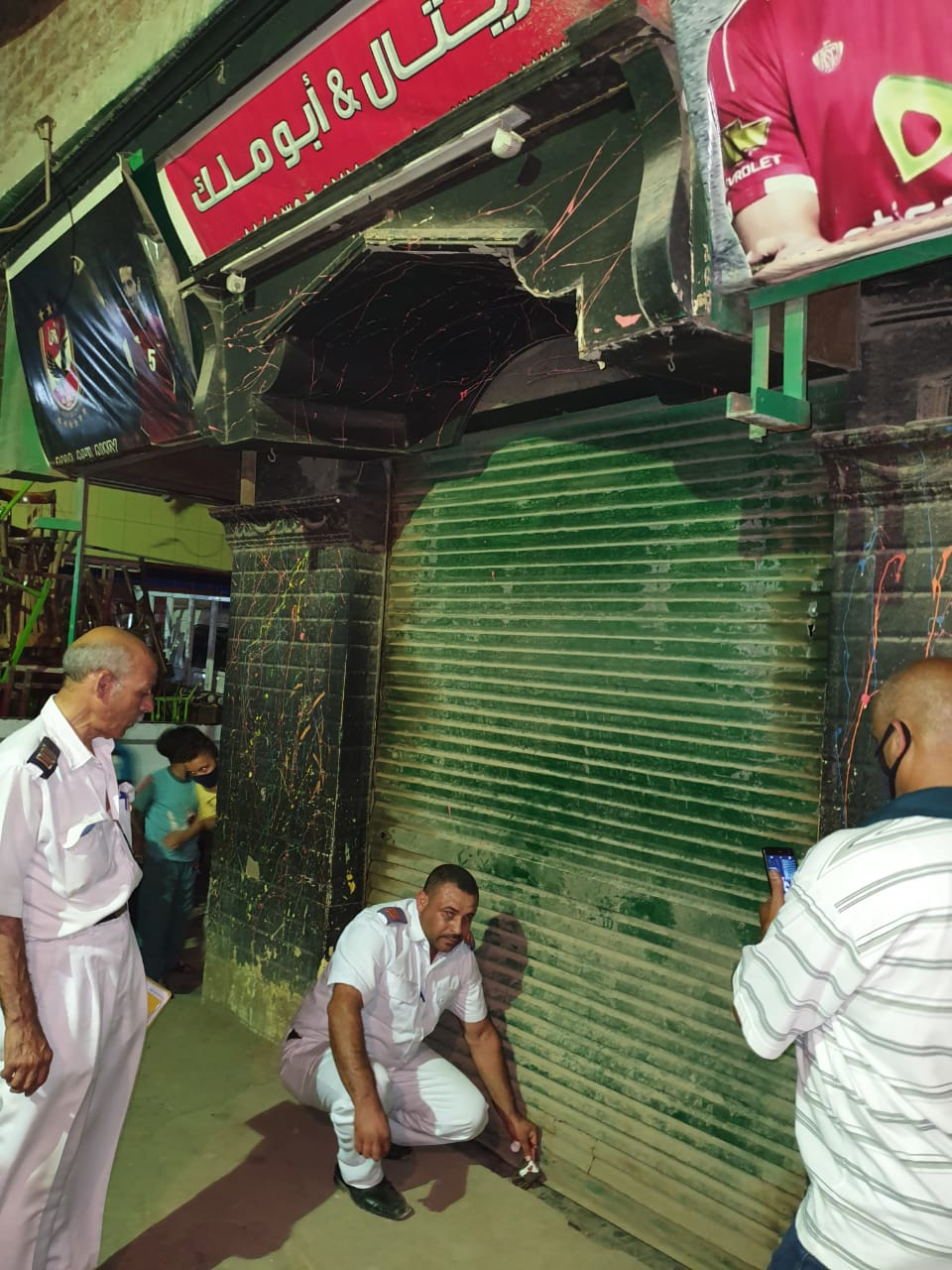 ضبط مقاهى تقدم الشيش بالجيزة (2)