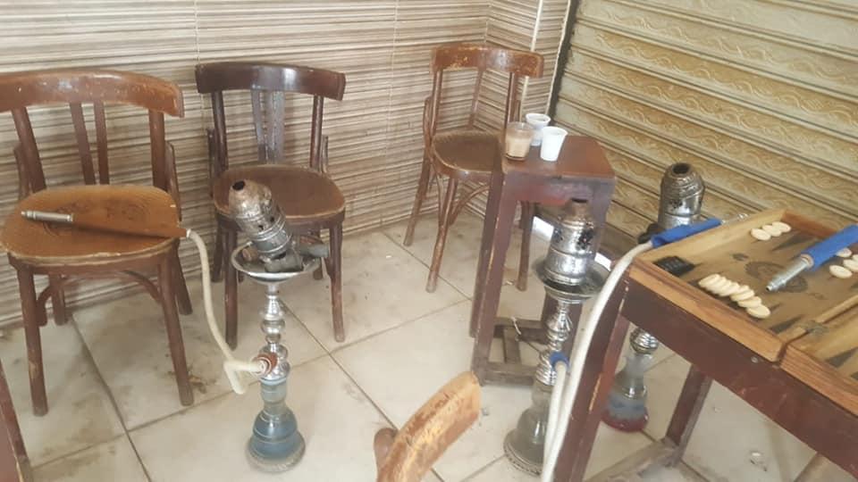 ضبط مقاهى تقدم الشيش بالجيزة (4)