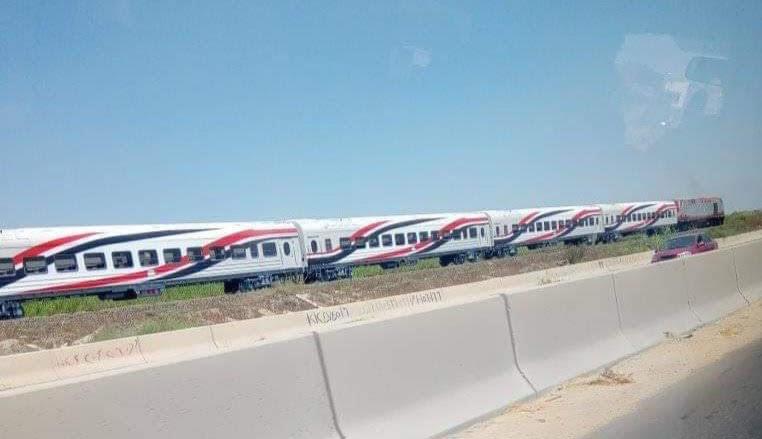 السكة الحديد تنقل أول دفعة عربات روسية جديدة لورش القاهرة استعدادا لتشغيلها  (2)
