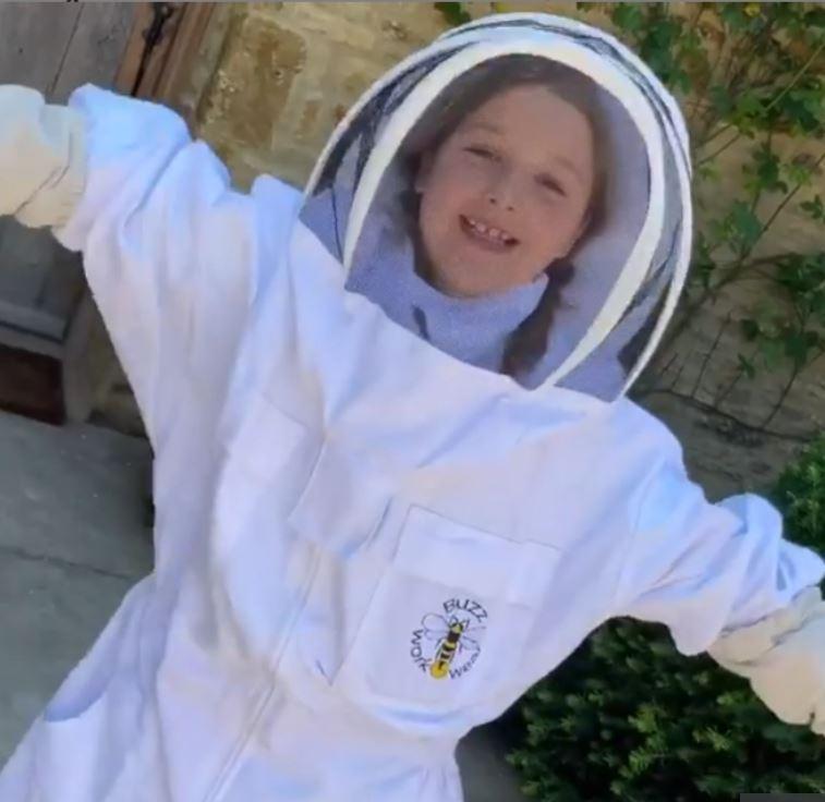 ابنة بيكهام في مقطع فيديو