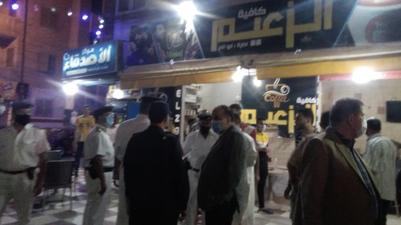 غلق أول مقهى مخالف بمدينة كفر الشيخ لعدم حظره الشيشة (4)
