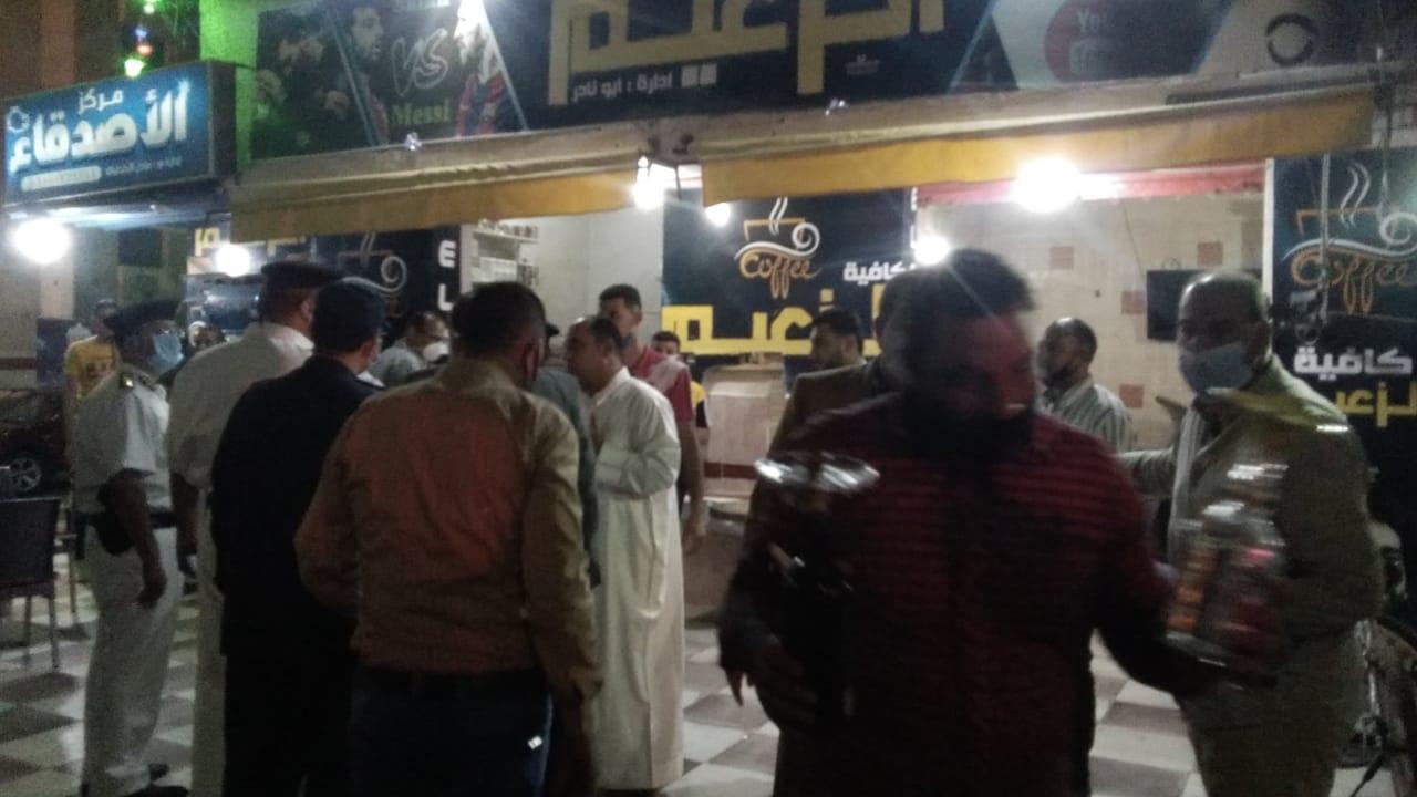 غلق أول مقهى مخالف بمدينة كفر الشيخ لعدم حظره الشيشة (2)