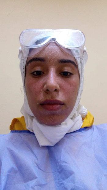 نسمة أجلت فرحها لخدمة مرضى كورونا فأصيبت الفيروس (9)