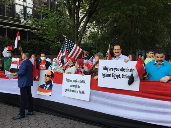 الجالية المصرية بنيويورك تحتفل بذكرى ثورة 30 يونيو أمام الأمم المتحدة (11)