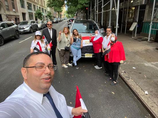 الجالية المصرية بنيويورك تحتفل بذكرى ثورة 30 يونيو أمام الأمم المتحدة (7)