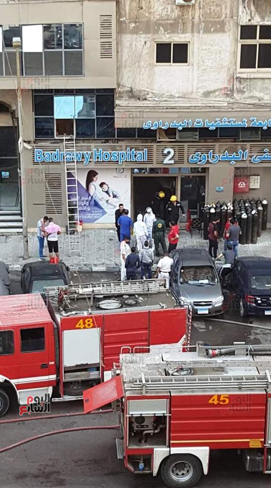 حريق-مستشفى-خاص-بالاسكندريه-(15)