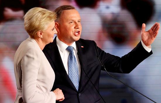 رئيس بولندا  وزوجته