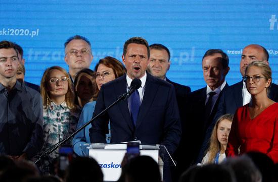 كلمة رافال ترزاسكوفسكى المنافس فى الانتخابات البولندية