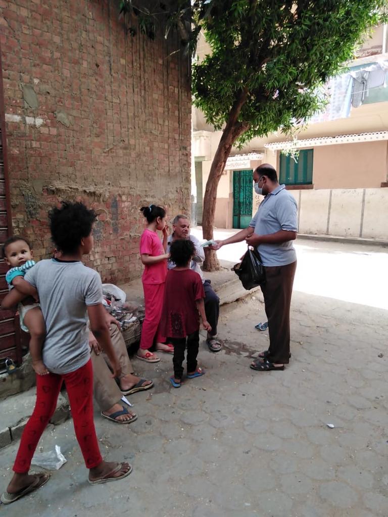 مبادرة توزيع الكمامات ببني سويف