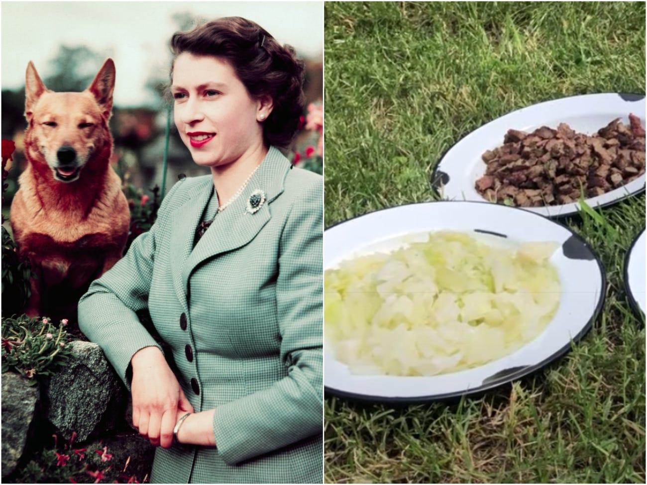الملكة إليزابيث وكلبها
