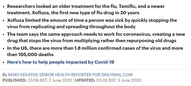 الادوية المضادة للانفلونزا