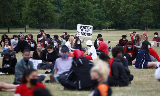 المتظاهرين بحديقة هايد بارك