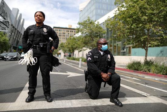 أفراد الشرطة الأمريكية فى لوس أنجلوس