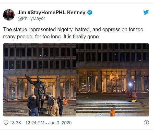 إزالة تمثال فرانك ريزو المثير للجدل بفيلادلفيا (3)