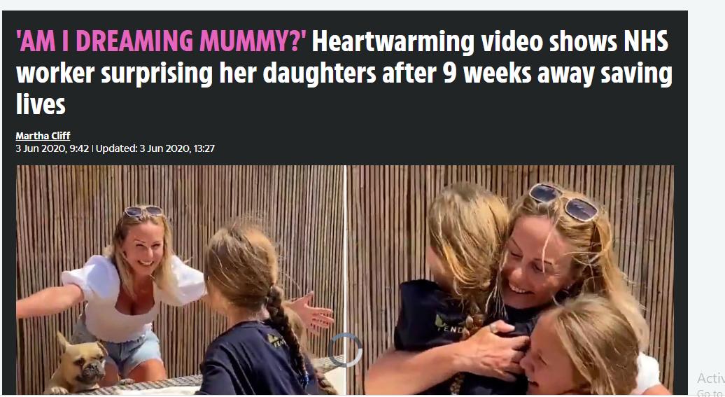 لحظة التقاء الام مع اطفالها