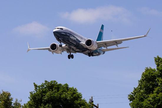 وينج 737 ماكس بعد رحلة تجريبية في سياتل