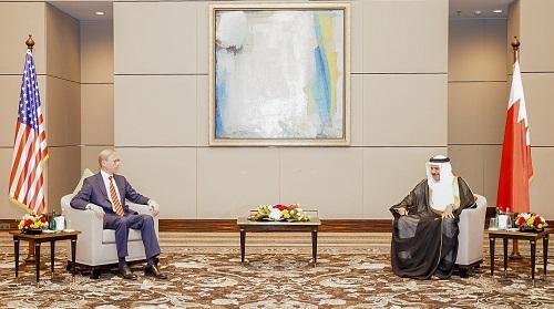 وزير خارجية البحرين والممثل الامريكى لشئون إيران