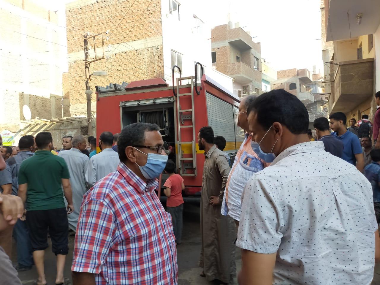 ى حريق بسبب انفجار أنبوبة بشقة فى قليوب (2)