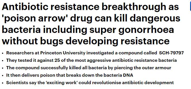 نوع جديد من المضادات الحيوية